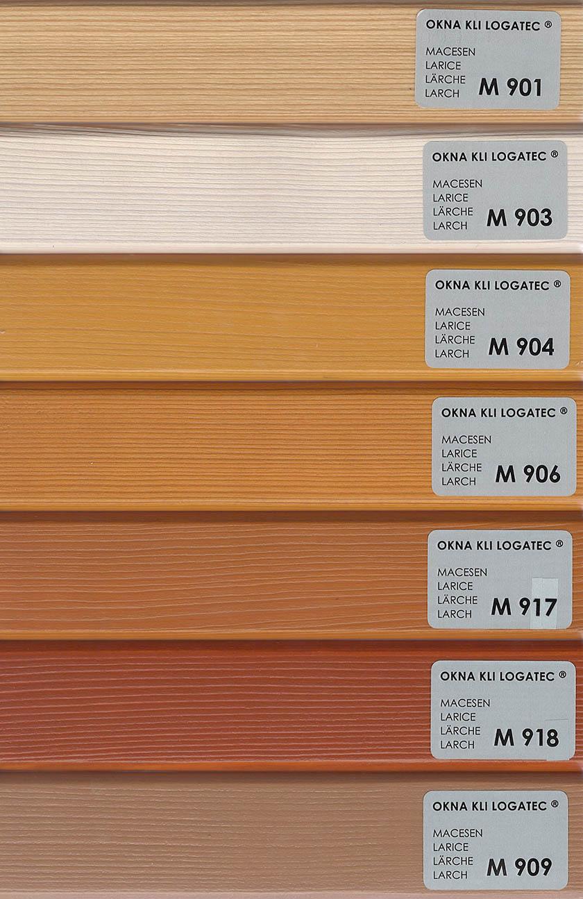 Okna barvna karta