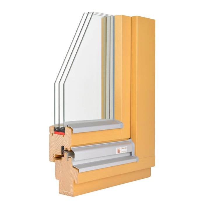 Lesena okna z zaščito