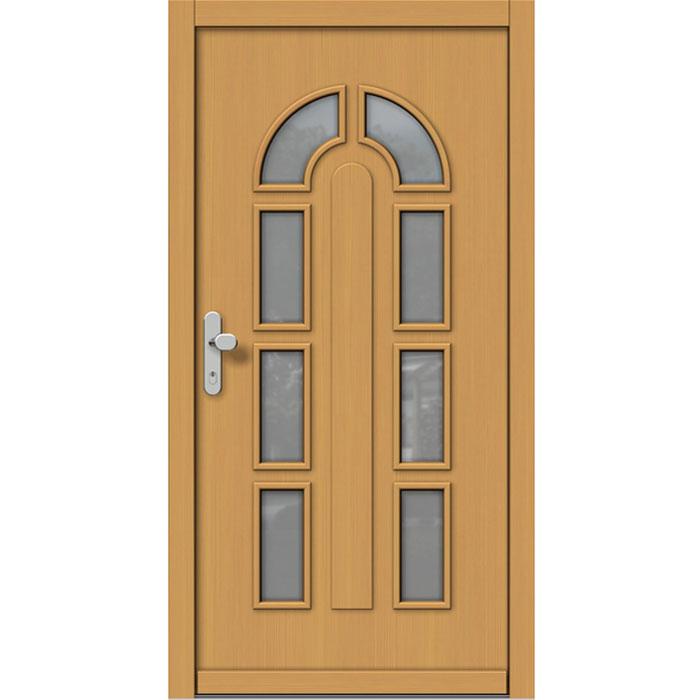 Lesena vhodan vrata v akciji