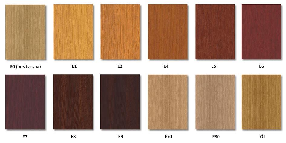 Standardni barvni toni - Hrast