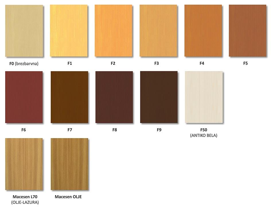 Standardni barvni toni - Smreka, macesen