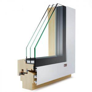 KLI Vetro110 lesena okna z alu oblogo