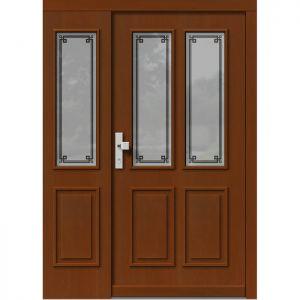 Lesena vhodna vrata KLI  H 501 + ST