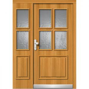 Lesena vhodna vrata KLI  H 502 + ST