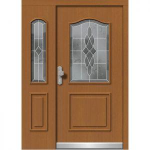 Lesena vhodna vrata KLI  H 505 + ST