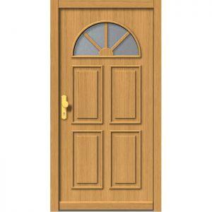 Lesena vhodna vrata KLI  H 506