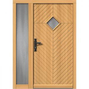 Lesena vhodna vrata KLI  H 509 + ST