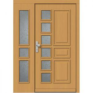 Lesena vhodna vrata KLI  H 535 + ST