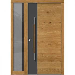 Lesena vhodna vrata KLI H 102E + ST