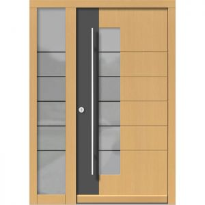 Lesena vhodna vrata KLI H 111 + ST