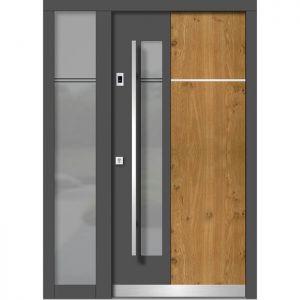Lesena vhodna vrata KLI H 116E + ST