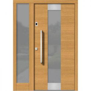 Lesena vhodna vrata KLI H 150E + ST