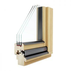 KLI Lignum 78 leseno okno po meri